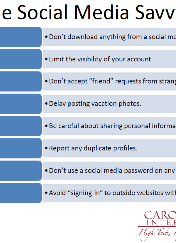 Be Social Media Savvy
